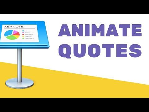 How to Make an Animated Video with Keynote