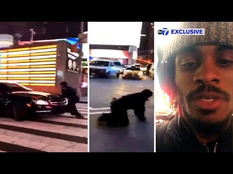 EXCLUSIVE: Photographer stunned by NYPD officer's actions in Times Square car chase