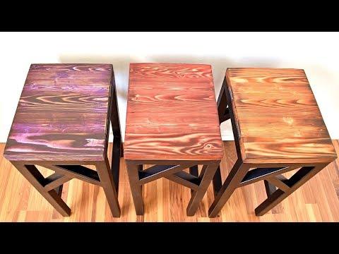 DIY Steel & Wood Stools w/ Shou Sugi Ban | Interlocking | Beginner Welder
