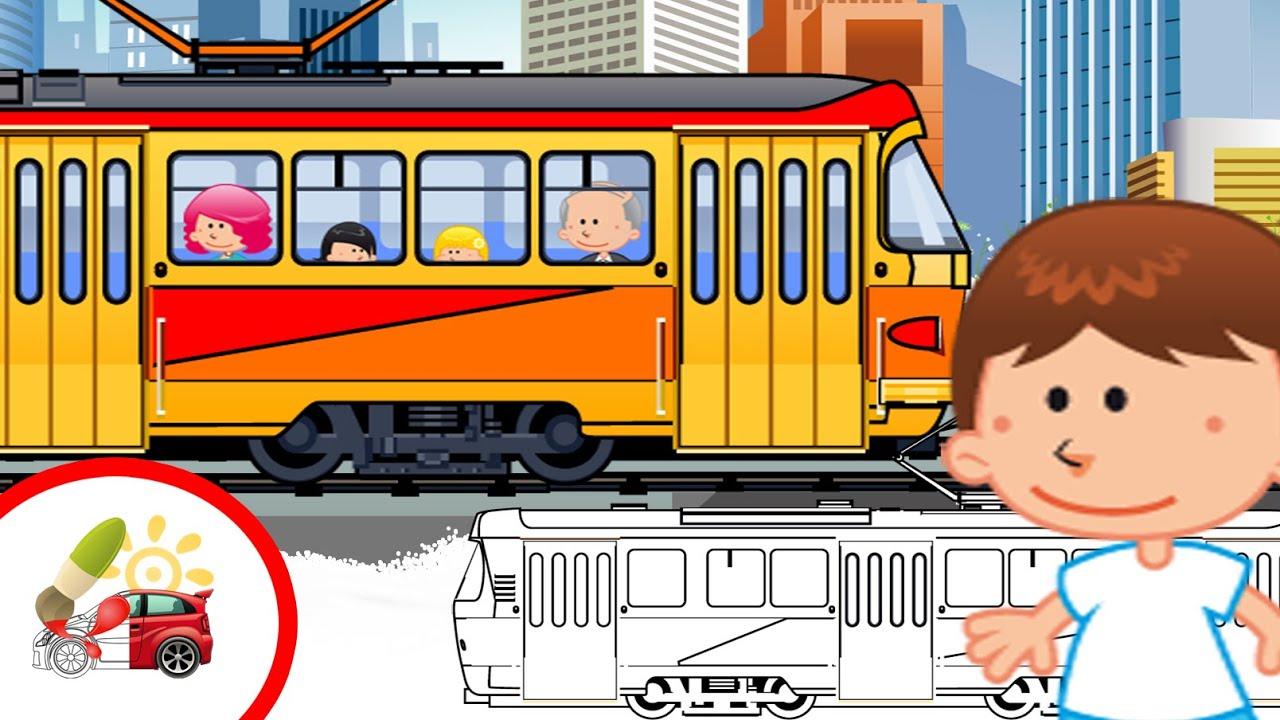 Картинки для детей трамваи
