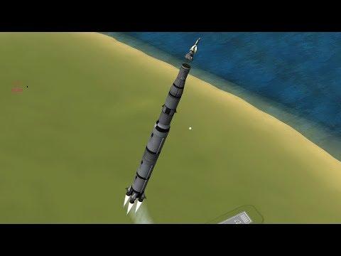 KSP - Making History Saturn V Apollo Replica In Flight Launch Abort / Escape System Test