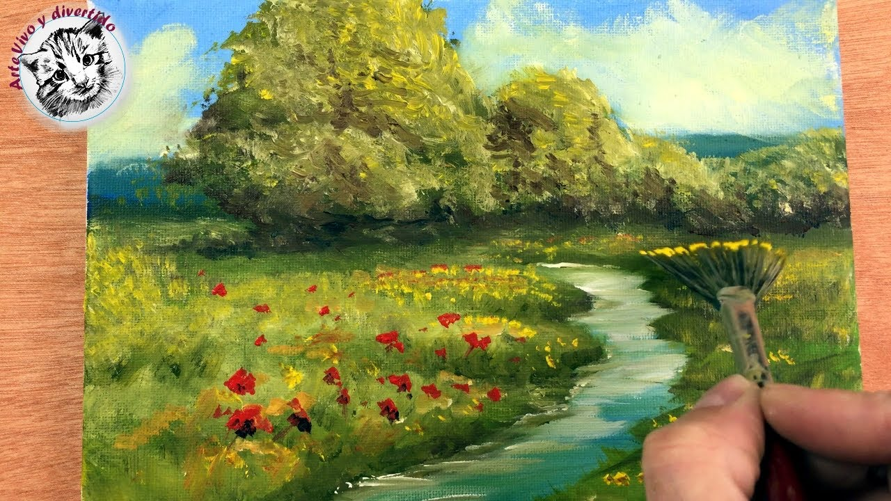 Oil Painting For Beginners 1 Basic Materials And How To Paint An Easy Landscape