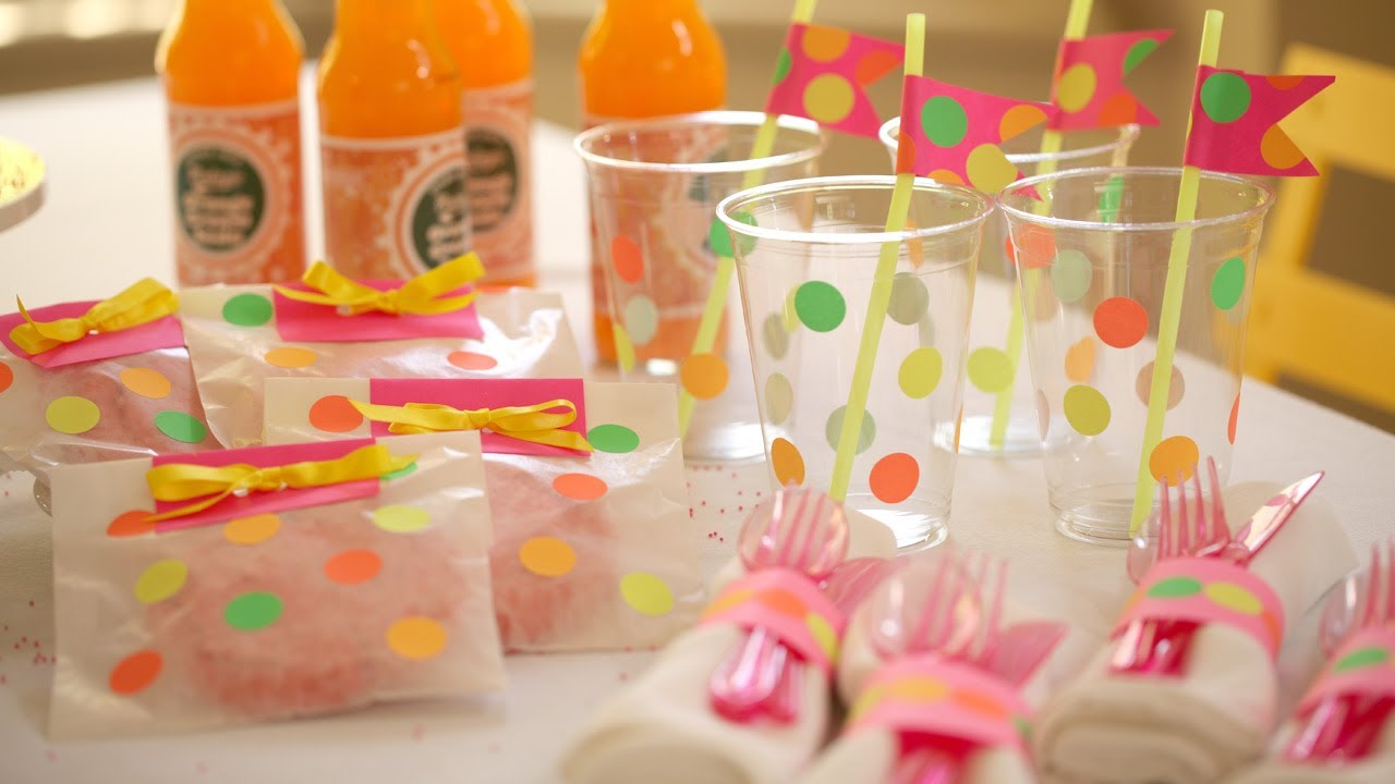 How To Make Neon Party Decor
