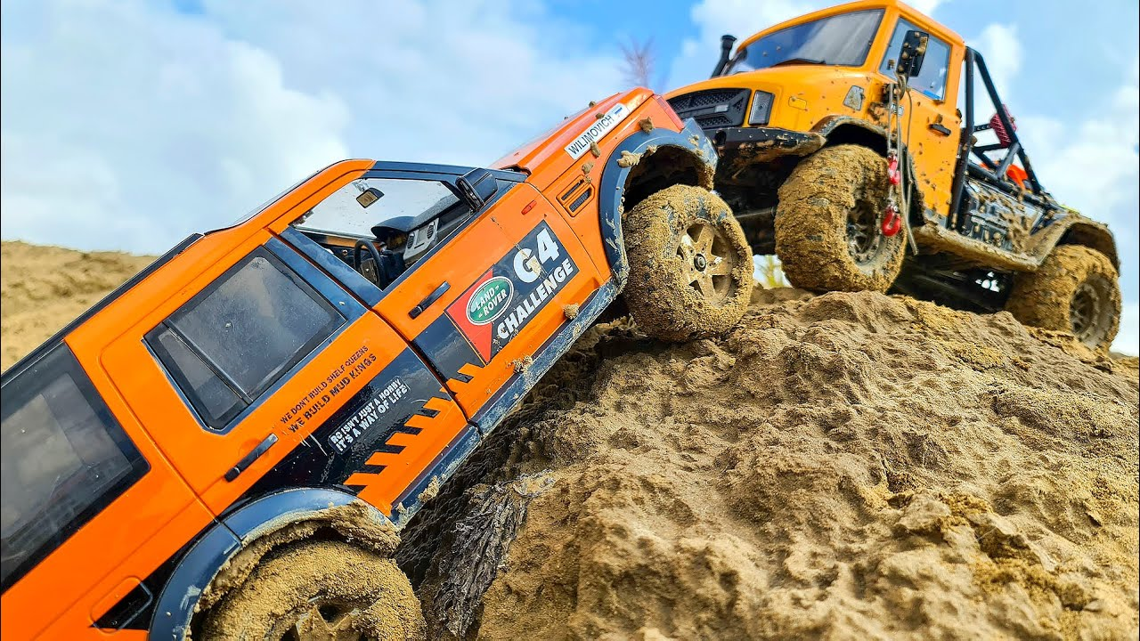 Land Rover and Mercedes Stuck in MUD in RC OFF Road Adventure Vol.2