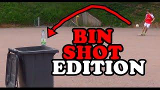 Football soccer trick shots - bin shot edition