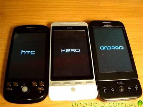 Boot test - HTC: Magic vs Hero vs G1 - Android.com.pl