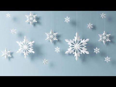 Copos De Nieve Para Decorar Fiesta Frozen.Como Hacer Copos De Nieve Para Decorar En Navidad Decoraciones Para Navidad