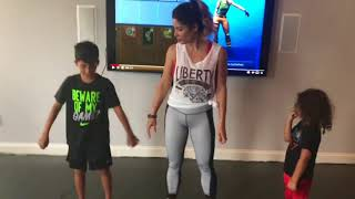 Fit Body Moms Incorporates Fortnite Dances To Get Kids To WorkOut - Instagram