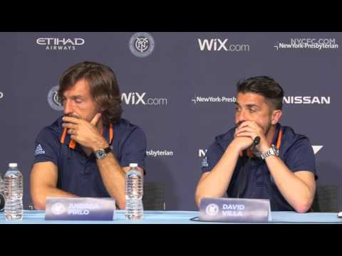 Andrea Pirlo and David Villa Press Conference | 3.10.16 - Media Day