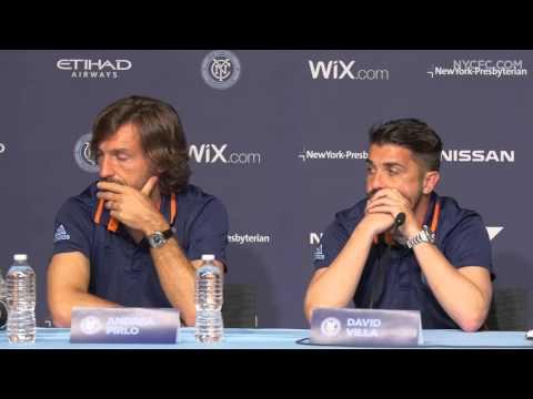 Andrea Pirlo and David Villa Press Conference   3.10.16 - Media Day