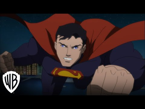 """Justice League vs. Teen Titans"" clip -- JL vs. Trigon/Weather Wizard"