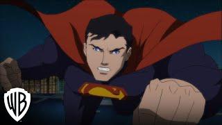 """Justice League vs. Teen Titans"" clip -- JL vs. Trigon/Weather Wizard"