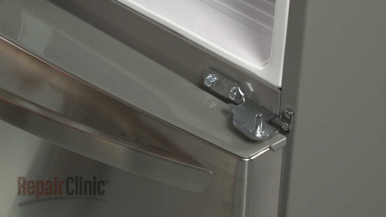 LG Refrigerator Replace Door Hinge Lower Right #AEH71135346   YouTube