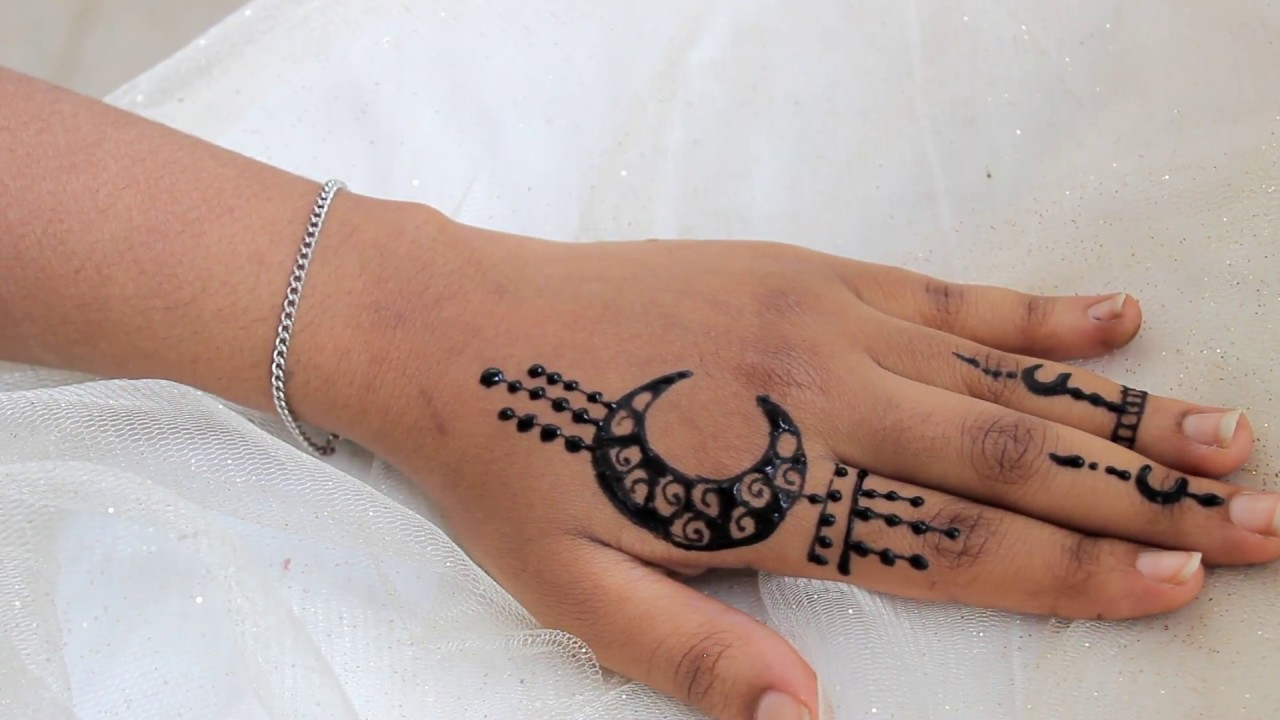 كيف ترسمي هلال رمضان بالحناء Youtube