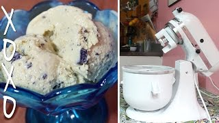 Honey Mint Chocolate Chip Ice Cream - Kitchenaid Ice Cream Maker