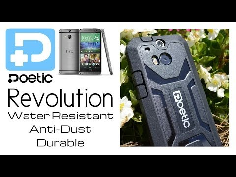 Poetic HTC One M8 Case [REVOLUTION Series] Rugged Hybrid Case w/ Built-in Screen Protector