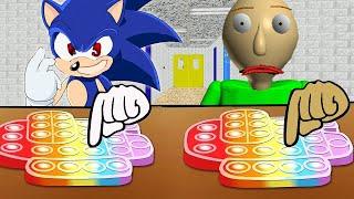 Sonic VS Baldi's Basic Class | Pacman Stop Motion | إيقاف الحركة