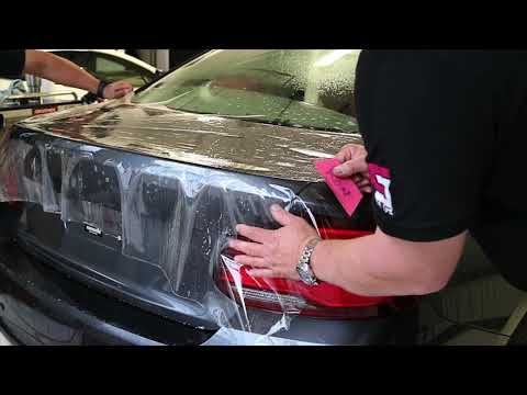Wrapping A BMW Trunk | PPF | Clear Bra