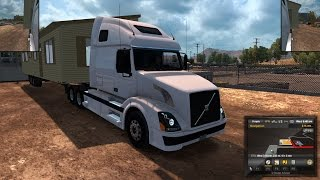 American Truck Simulator Episode 33 Prefabricated House to Truckee, CA