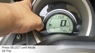How to reset Oil Trip Yamaha NMax