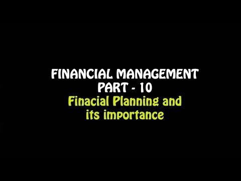 Financial Management Part – 10, Financial Planning, 12th CBSE Business Studies