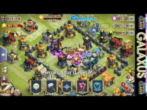 Castle Clash-Power Leveling Dracax And Aries (Best F2p CC Account Series Ep.1)