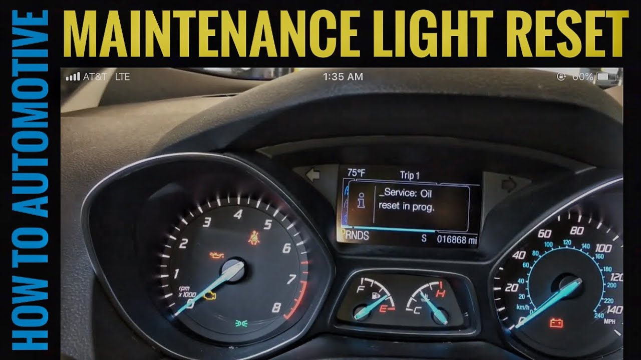 How to Reset the Maintenance Light on a 2015 Ford Escape