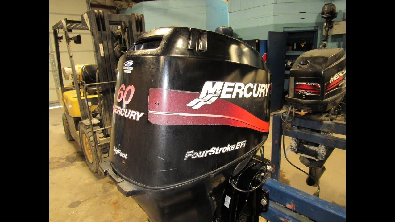 Used 2003 Mercury 60HP Outboard 60ELPT EFI 20