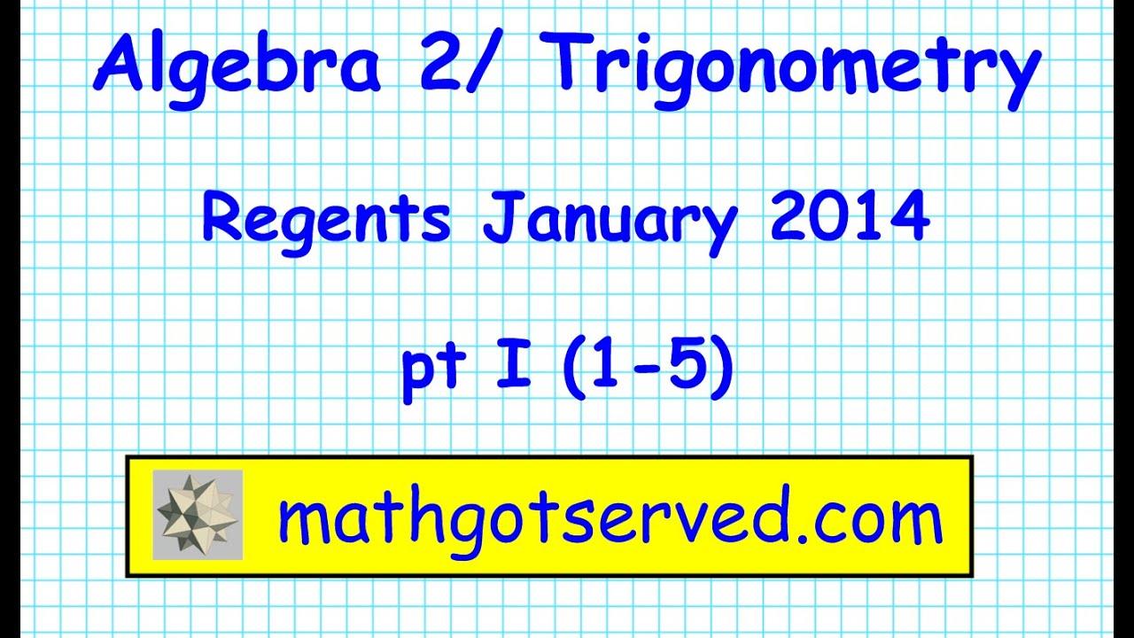 Algebra 2 Trigonometry