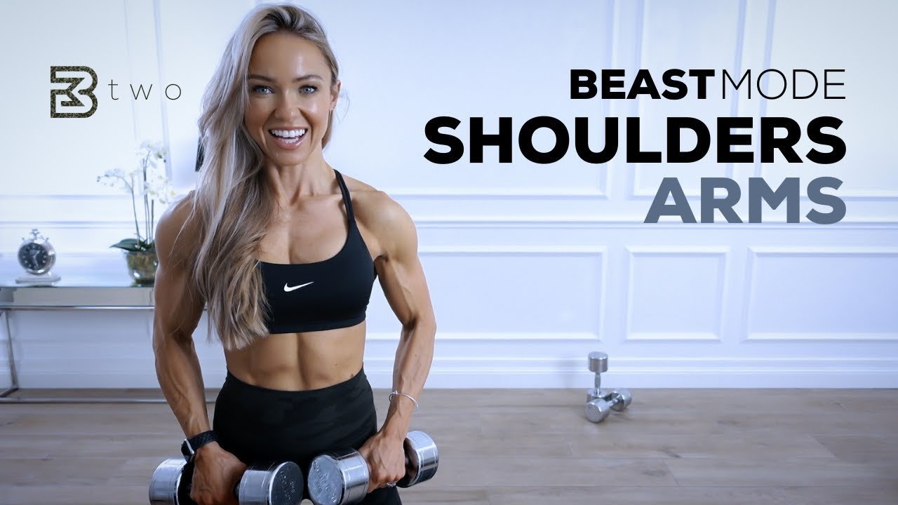 BEASTMODE SHOULDERS AND ARMS - Intense Upper Body Workout   Day 2