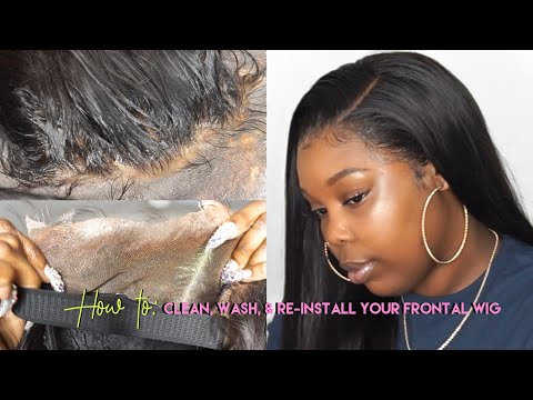 (HOW I) CLEAN, WASH, AND RE-INSTALL MY LACE FRONTAL WIGS | Klaiyi Hair