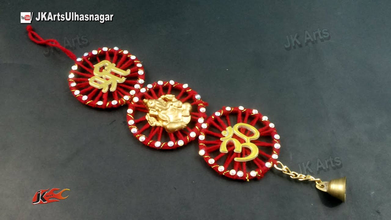 Diy wall hanging from waste bangles how to make jk for Waste crafts making