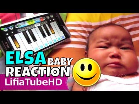 Baby Reaction To Music Song - Reaksi Lucu Elsa Saat Bayi Dengarkan Lagu Sedih Dan Gembira