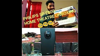 Philips DSP 2800 Home theatre Unboxing...