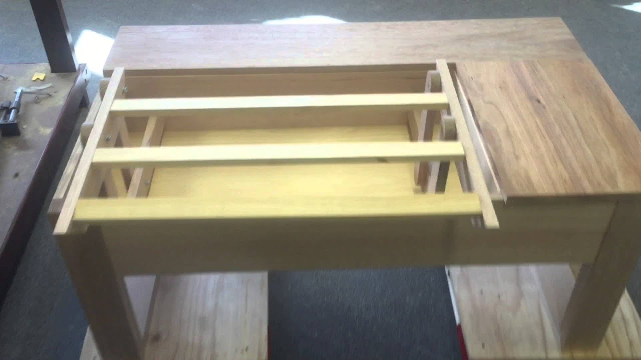 Cantilever Hinges In Coffee Table Make Operating Desk