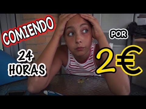Reto Extremo!! Comer todo el dia por 2 Euros!! | Carnika vlogs