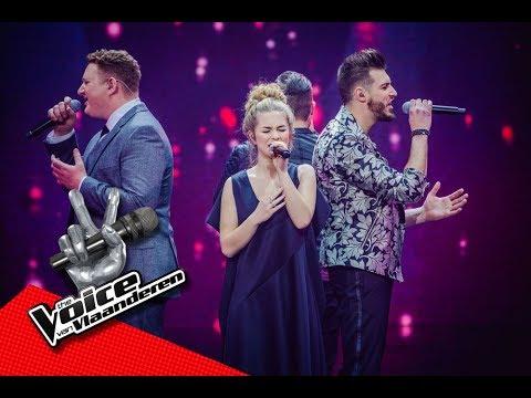 De finalisten zingen Free Fallin  Finale  The Voice van Vlaanderen  VTM