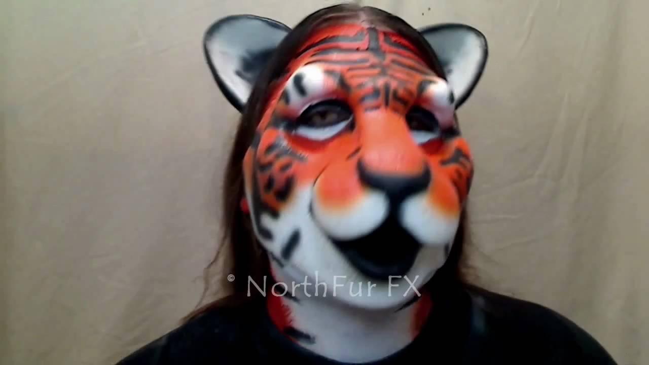 Foam Latex Lyonshel® Big Cat Face Prosthetic Mask