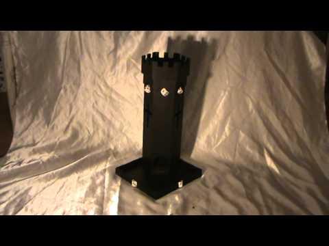 The Ebony & Ivory Dice Tower