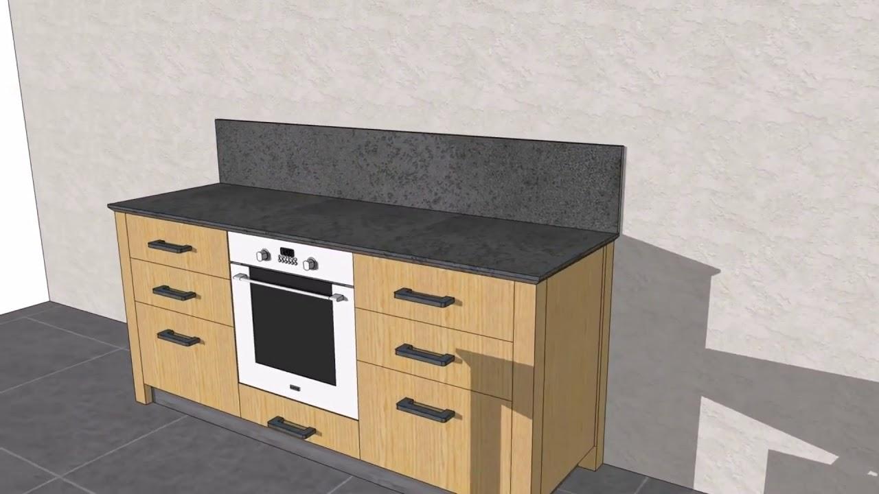 Progetto #01 Cucina rovere naturale laccato grigio - YouTube