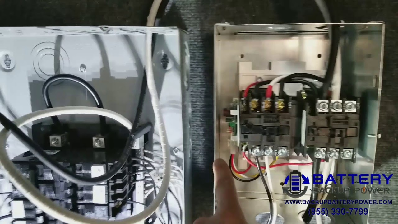how an automatic transfer switch ats provides backup power from a secondary source [ 1280 x 720 Pixel ]