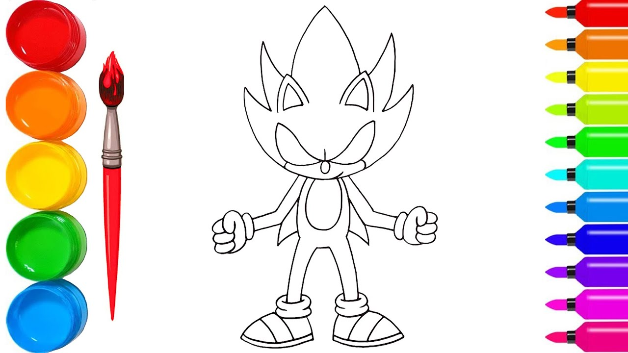 How to Draw Dark Sonic  Art Tutorial/HOW TO DRAW SONIC THE