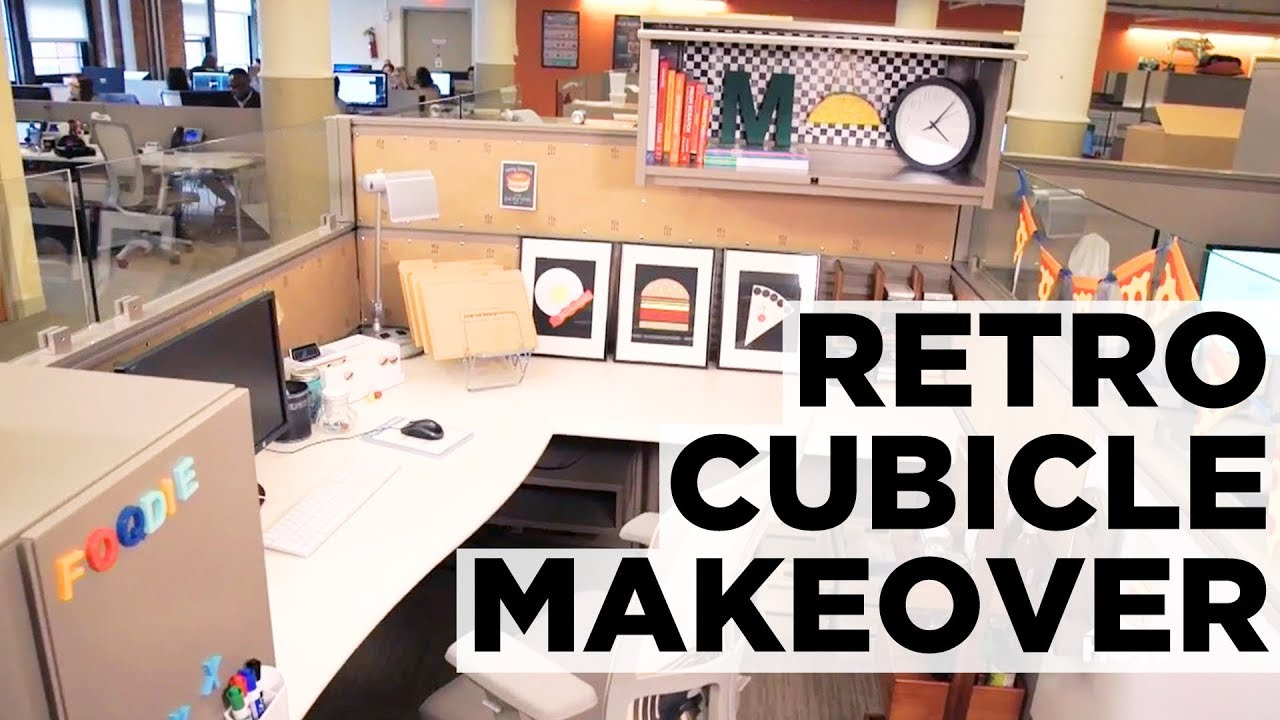 Americana Inspired Cubicle Makeover Hgtv Youtube