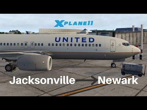 [X-Plane 11] United 1489 | Jacksonville - Newark | Zibo 737 3 30q | VATSIM  by SWA8080