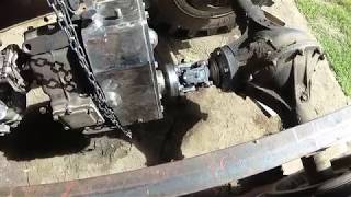 Работа с рамой трактора ,стыковка кпп и раздатки .
