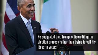 President Obama tells Trump to 'stop whining'