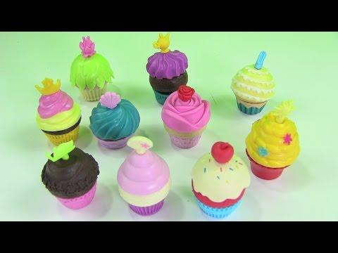 Bộ Đồ Chơi Thiết Kế Bánh Cupcake Cho 12 Nàng Công Chúa Disney Cinderelle, Snow Whitem Rapunzel...