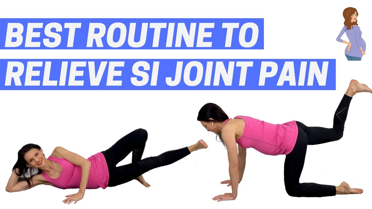 SI Joint Pain Pregnancy Exercises (follow-along for SI joint pain relief)