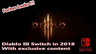 Diablo III coming to Switch in 2018 [ Forbes leak ]