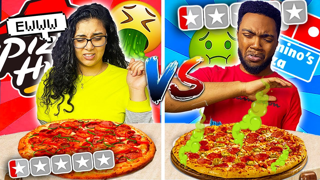 WORST Reviewed PIZZA HUT VS DOMINOS 🤢🤮